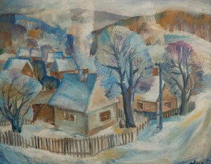 A. Mukhomedianov Winter', 1990, oil on canvas, 90x70