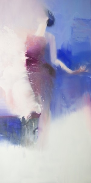 Piece of Sky 2016 oil on canvas 200x100.