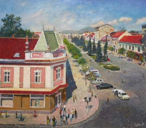 Mukachevo, the Central Myru Square, 2006