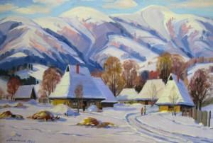 Winter Landscape, 1982, oil on canvas, 74х110
