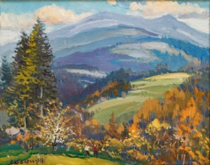 Beskydy Mountains, 2014, oil on canvas, 55x70
