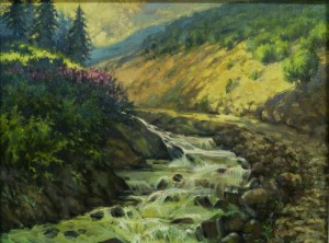 The Road to Dragobrat, 2012, oil on canvas, 60x80
