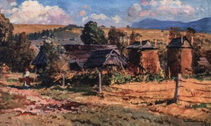 Yasinia Village, 1956, oil on canvas, 50,5х79