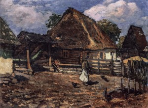 Peasant Farm, 1933, oil on cardboard, 47x63