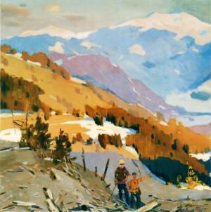 У горах, 1956, п.о.