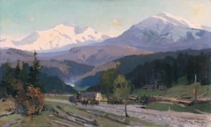 У горах, 1960, п.о. 84х138