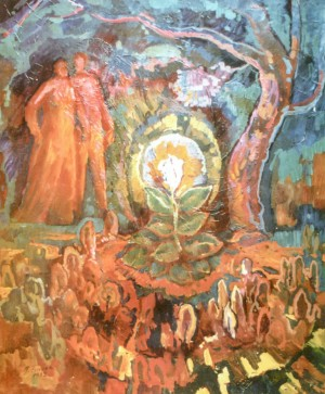When Nikotiana Blossoms, 1981, oil on canvas, 150х125