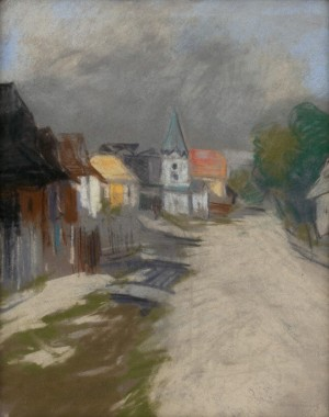 'Krásna Hôrka', the 1930s, paper on pastel on cardboard, 48,3х38,1.png