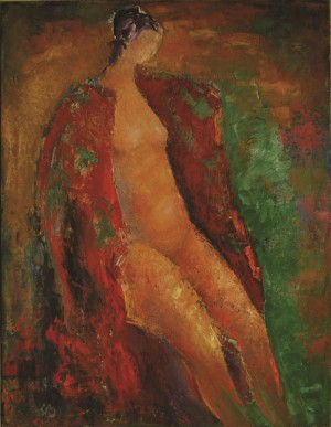 Naked Woman, 2012, oil on canvas, 80x70
