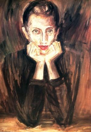 Портрет дружини, 1984, кар.о.тем., 99х79
