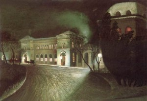 East Station at night 1902