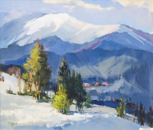 Winter Day, 2017, oil on canvas, 60x70