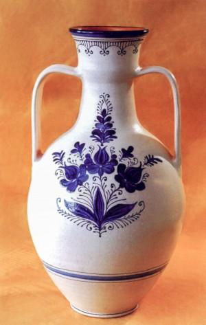 Велика ваза, глина, полива, розпис