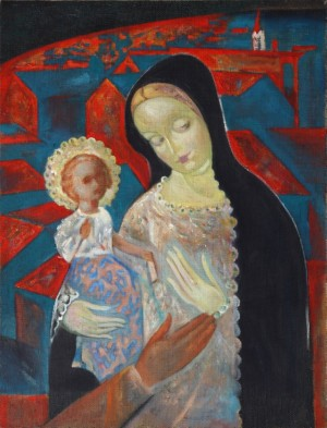 Radvanska Madonna, 2006, oil on canvas, 65x45