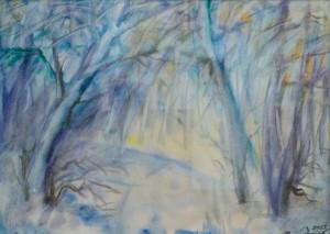 Зима, 2013, пап.акв., 43х60