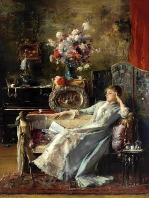 Молода жінка на дивані, 1887 р., д.о. 115,6х87.