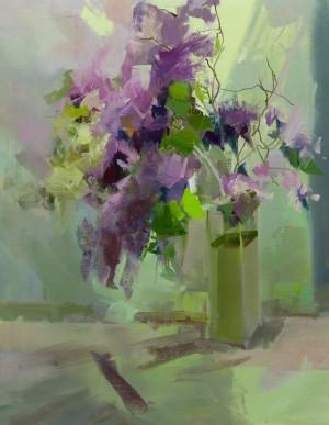 Purple Fragrance 2017 oil on canvas 65x50.