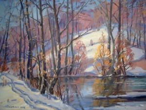Зимовий пейзаж, 1986, п.о., 60х80
