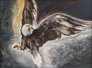 Freedom, 2017, oil on masonite