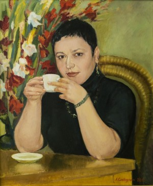 While drinking Coffee, 2011, oil on canvas