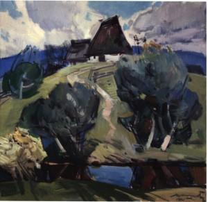 Хата бабусі, 1980, п.о. 75х75