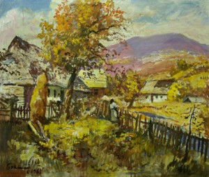 An Old Verkhovyna, 1968, oil on canvas, 50.5x60