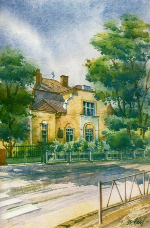 House in Pidhirna Street,42 watercolour