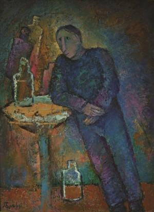 Одинокий, 2003, п.о., 80х70