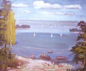 На горизонті – Санкт-Петербург (вид з Гельсінкі), 1986, п.о., 55х65