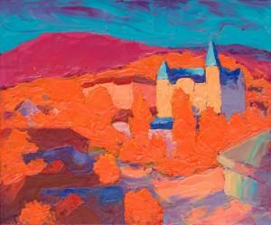 Cityscape, Uzhhorod, oil on canvas, 50х60