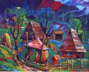 Hutsul Mansion, 2014, oil on canvas