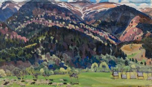 'Yaryna (Spring)', 1968, oil on canvas, 54x86