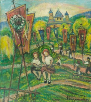 E. Kontratovych. Religious Procession in the village