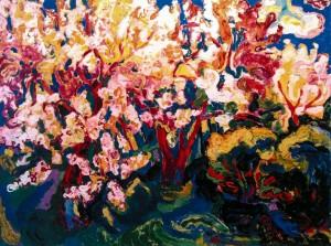Квітучий сад, 2009, п.о., 115х150