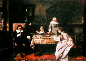 Milton Dictating Paradise Lost to his Daughters 1878 р