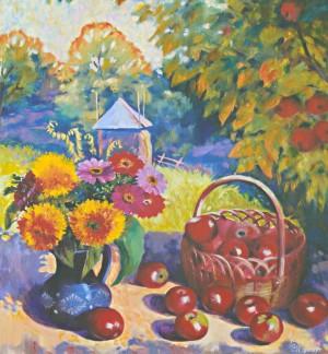 Осінь у саду, 2010, 80х70