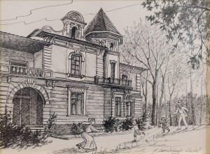 H.Nevinchana-Martin. The House of Heirich Wilms, Co-owner of The Mill,paper, ink, 30x40