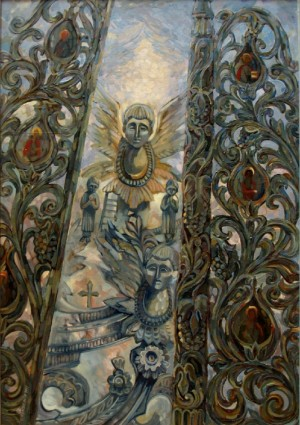 L. Pryimych 'Melodies Of The Carpathian Baroque', 2005, oil on cardbopard, 70Х80
