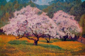 Apple Trees In Bloom, 1977, oil on canvas