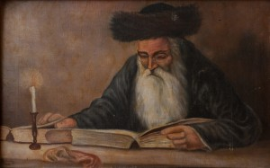 S. Silvai Portrait Of A Rabbi With A Talmud', oil on canvas