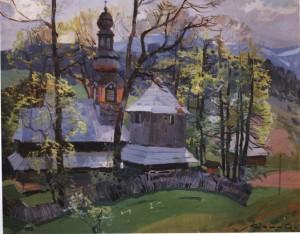 Церква в Гукливому, 1956, п.о. 80х100