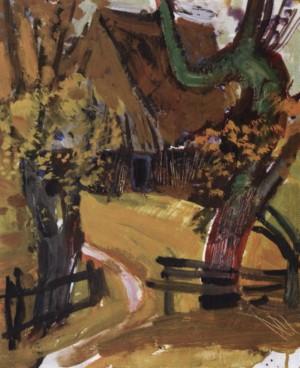 Хатинка в горах, кін. 1950-х, к.о. 31х26