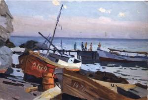 Човни, 1956, к.о. 35х50