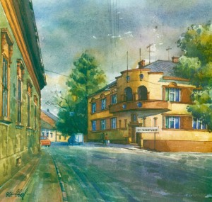 House in Pidhirna Street,18 1996 watercolour