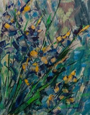 'Irises', 2016, 70x80