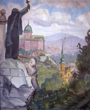 На горі Гелерт, 1991, п.о., 80х65