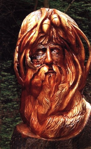Grandfather Forester, 2014, woodcarving