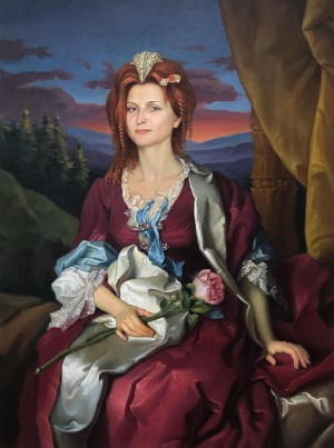 'Queen Of The Carpathians', 2007, oil on canvas, 80x60