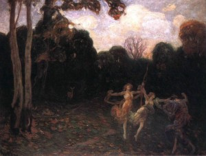 Dancing Girls At The Edge Of The Forest, 1895