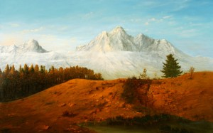 Autumn In The Mountains, 2006, oil on canvas, 85x135